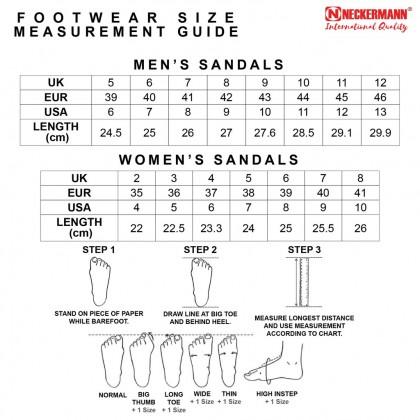 Neckermann Men's Atlanta Comfort Sandals in Genuine Leather - Dark Brown/Black