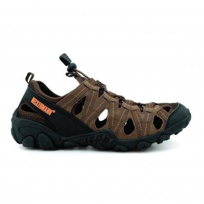 Neckermann Men's Tornado Hiking Series Sports Sandals - Navy/Dark Brown