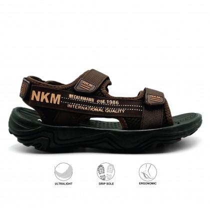 Neckermann Men's Vulcan Lightweight Sports Sandals - Black/Dark Brown
