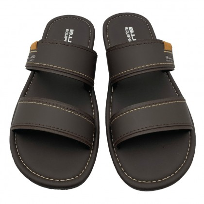 BUM Equipment Men's Harlem Dual Strap Comfort Slide Sandals - Dark Brown