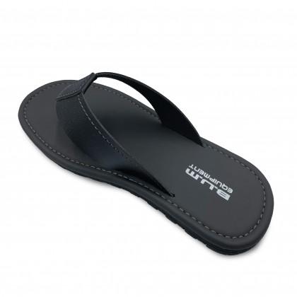BUM Equipment Men's Velesto Light Comfort Toe Post Sandals - Black & Dark Grey
