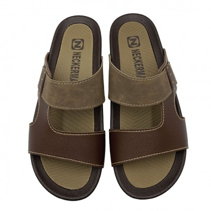 Neckermann Men's Cohen Comfort Slide Sandals - Black/Brown