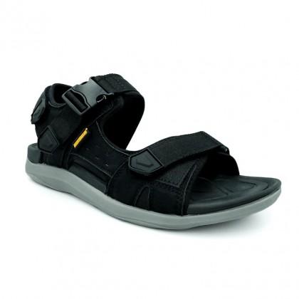 Neckermann Men's Desert & Black Ops Retro Series Sports Sandals - Sand Brown/Black