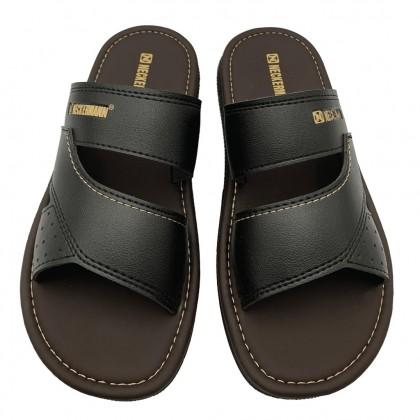 Neckermann Men's Darwin Comfort Slide Sandals - Black & Dark Brown