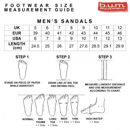 BUM Equipment Men's Retrotec Lightweight Slide Sandals - Black & White