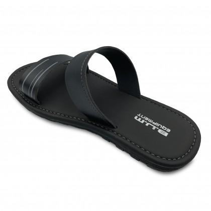 BUM Equipment Men's Velesto Light Comfort Dual Strap Slide Sandals - Black