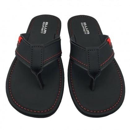 BUM Equipment Men's Harlem Toe Post Comfort Sandals - Black
