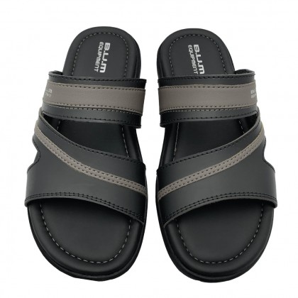 BUM Equipment Men's Elite-X Comfort Slide Sandals - Black & Grey