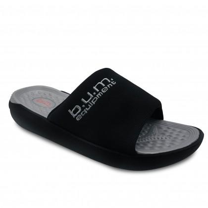BUM Equipment Men's Comfort Ceres Slide Sandals Black Edition - Black/Grey