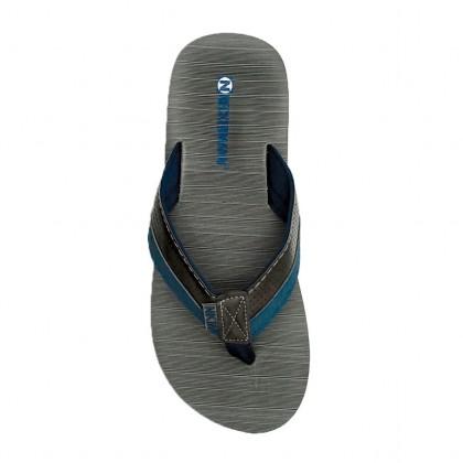 Neckermann Men's Alpha Toe Post Beach Sandals - Camel Brown/Grey