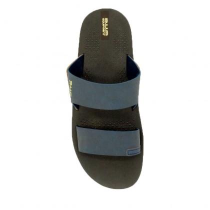 BUM EquipmentMen's Flocco Slide Sandals - Blue/Black BSK100215/BSK100201