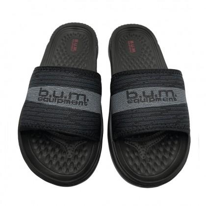 BUM Equipment Men's Ultra Lightweight Comfort Slide Sandals - Black/Grey
